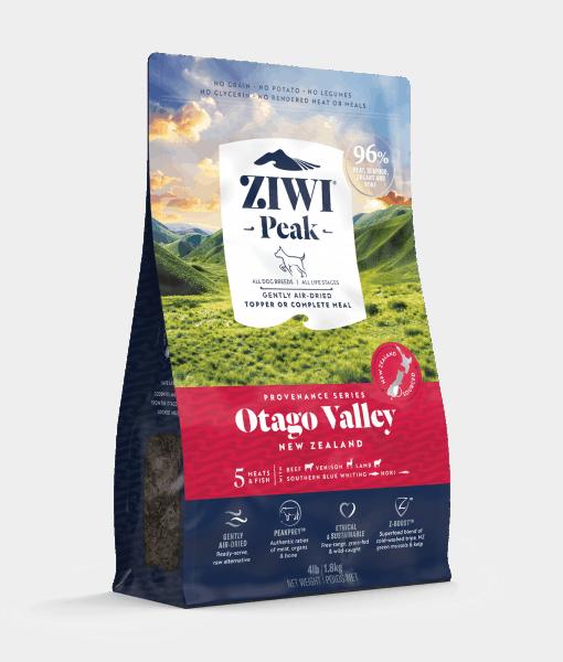 ziwipeak provenance otago valley dog food bag