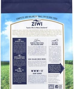 Ziwi Peak Beef Air-Dried Dog Food Back of Packet