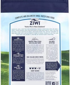 Ziwi Peak Lamb Air-Dried Dog Food Back of Packet